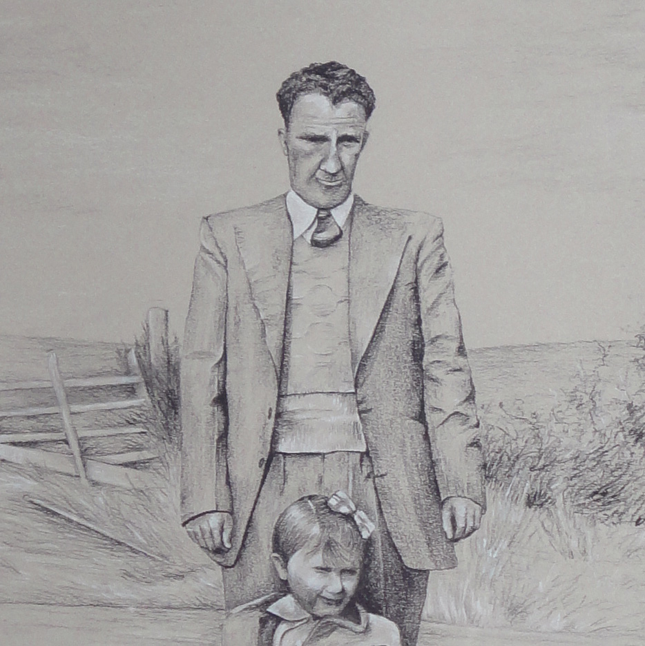 Father and Daughter - Detail