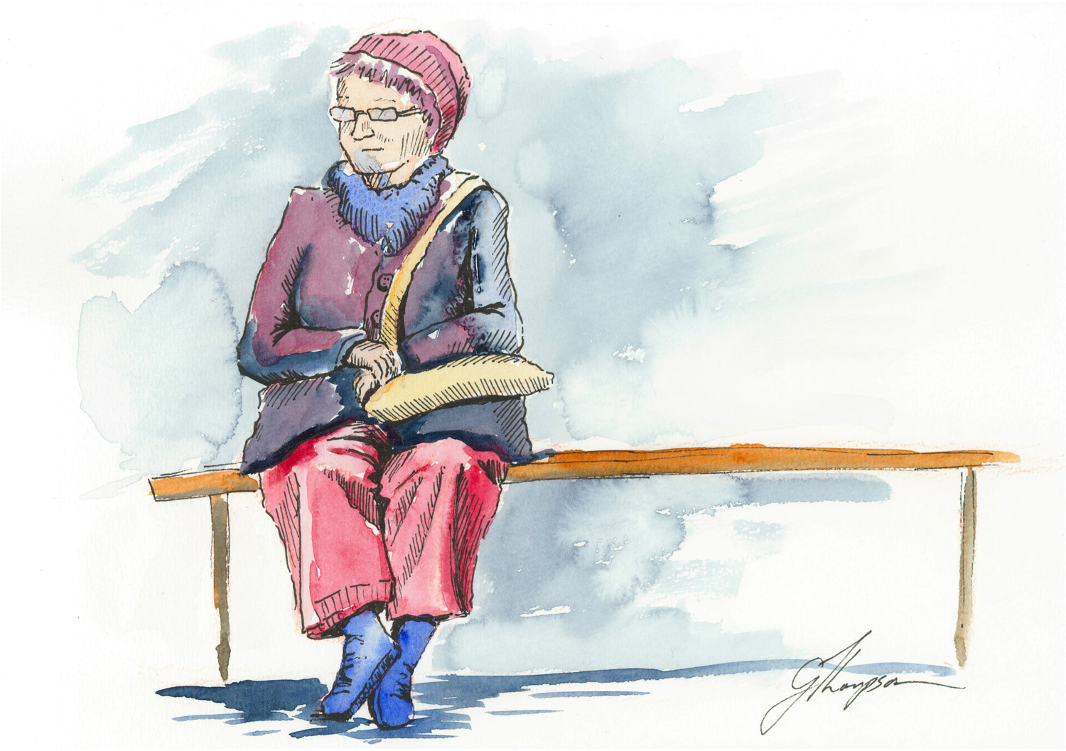 Bus Stop Lady
