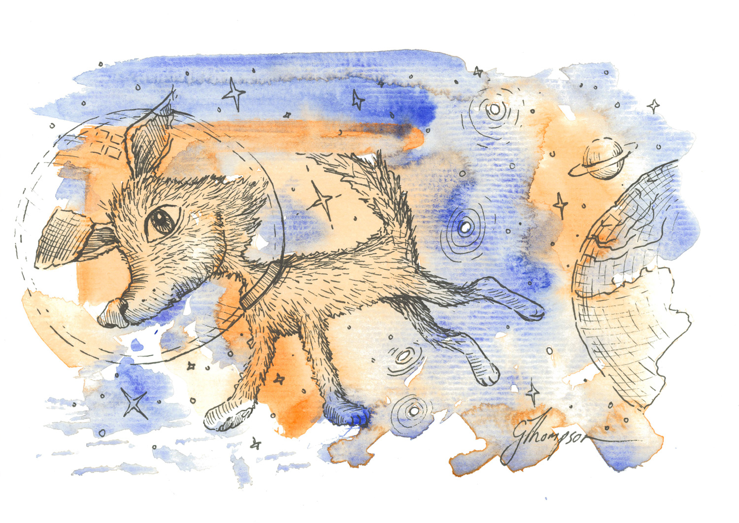 Space Dog - SOLD