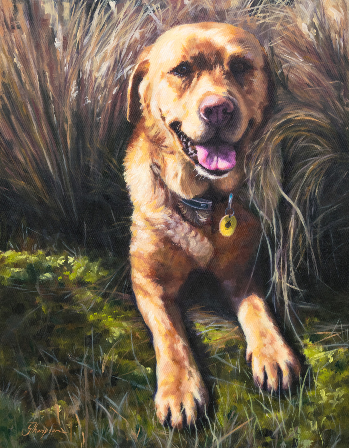 Reuben the Dog, 2017, Oil on canvas, 350 x 450mm , (13.7 in x 17.7 in)