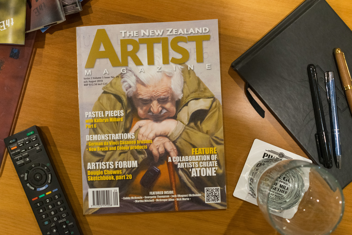 Oh fancy that! Look what found its way onto the coffee table.