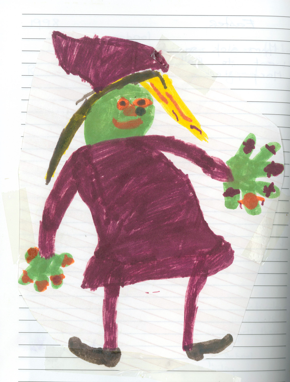 A witch with many rings. Aged 8 years.
