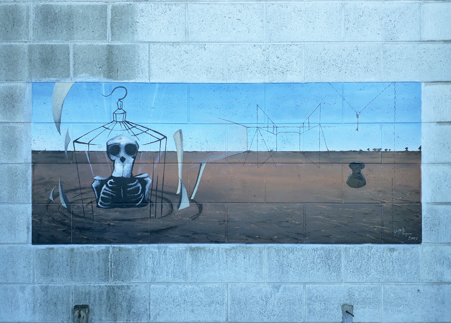 Mural on Ashburton College 2017. Aged 17 years.
