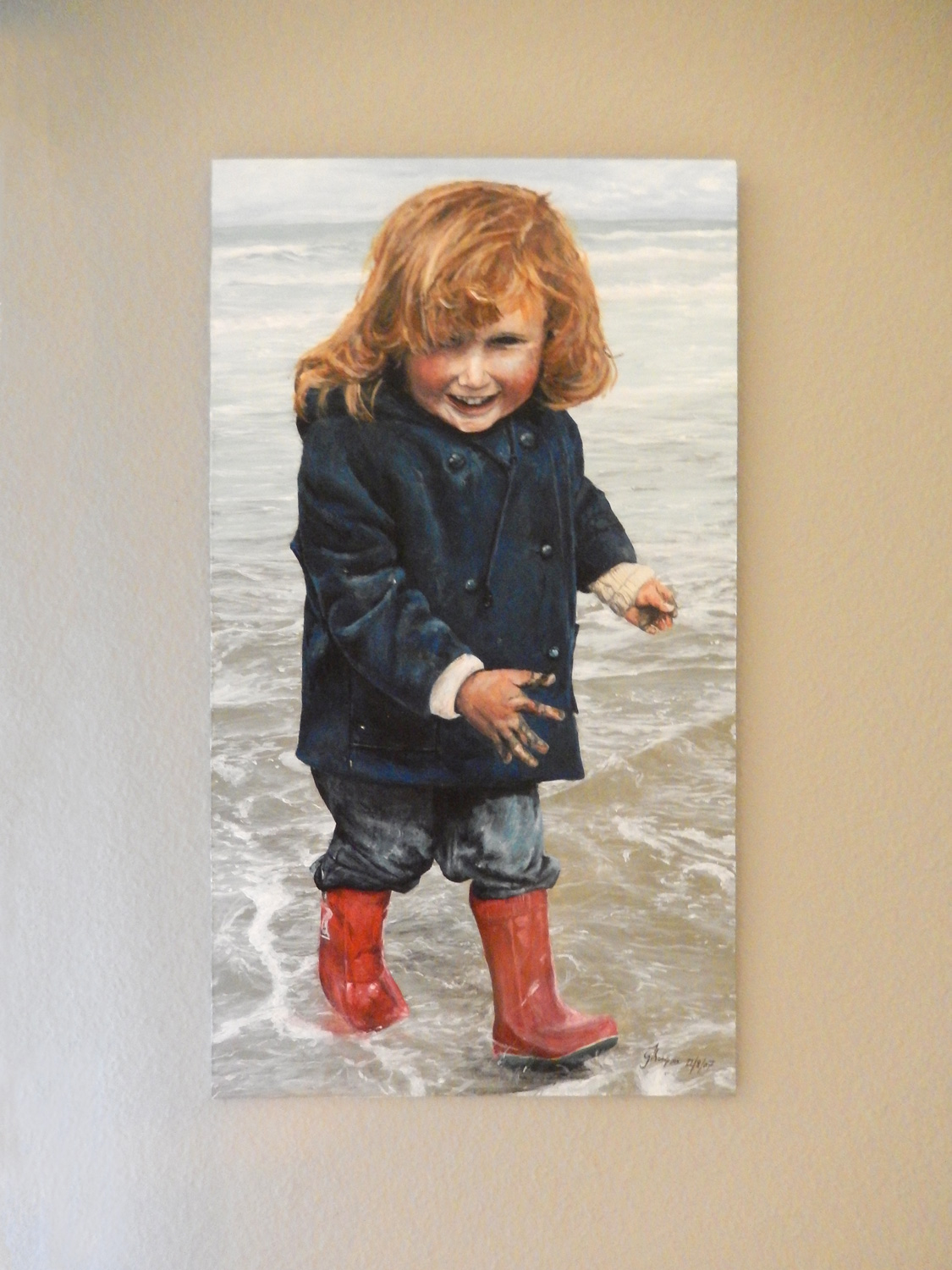 'Young Georgette' Acrylic on board, 2007. Aged 17 years.