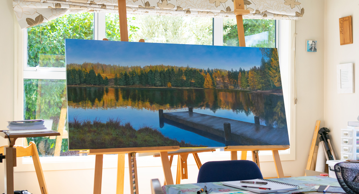 Working in progress, Naseby oil painting, 1620x760mm.