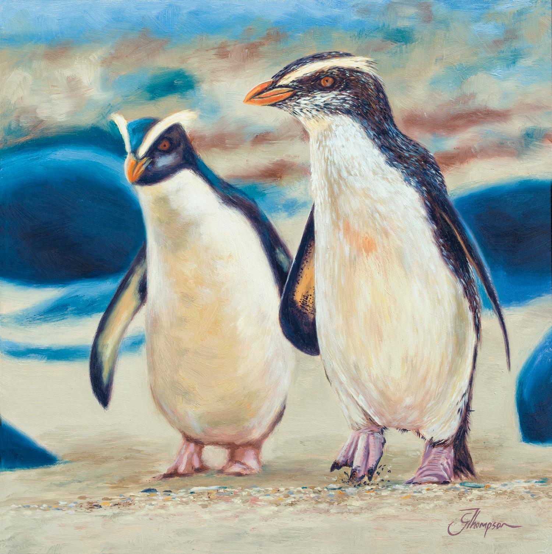 Evening Walk (Fiordland Penguins) - FOR SALE $550