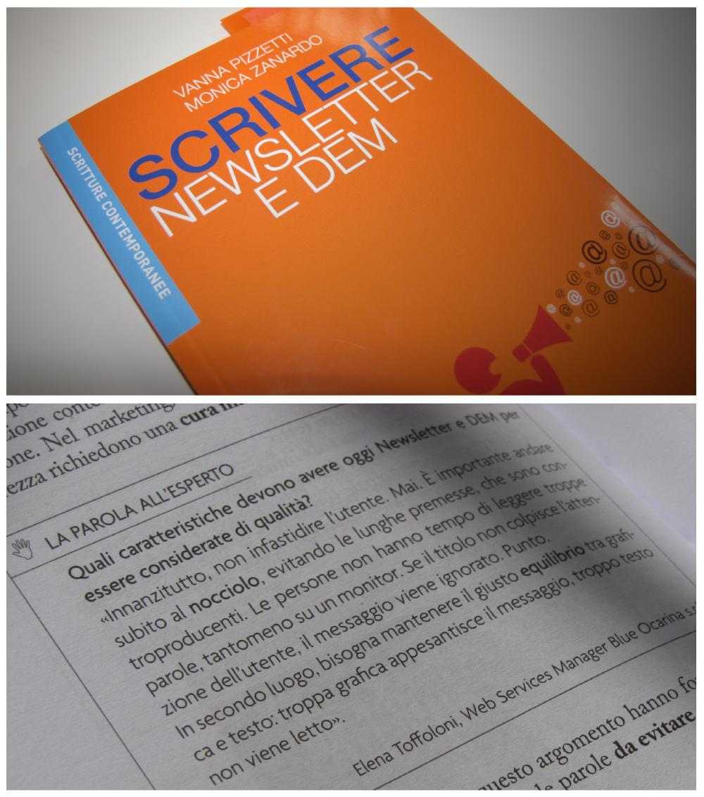 Scrivere newsletter e DEM, il libro