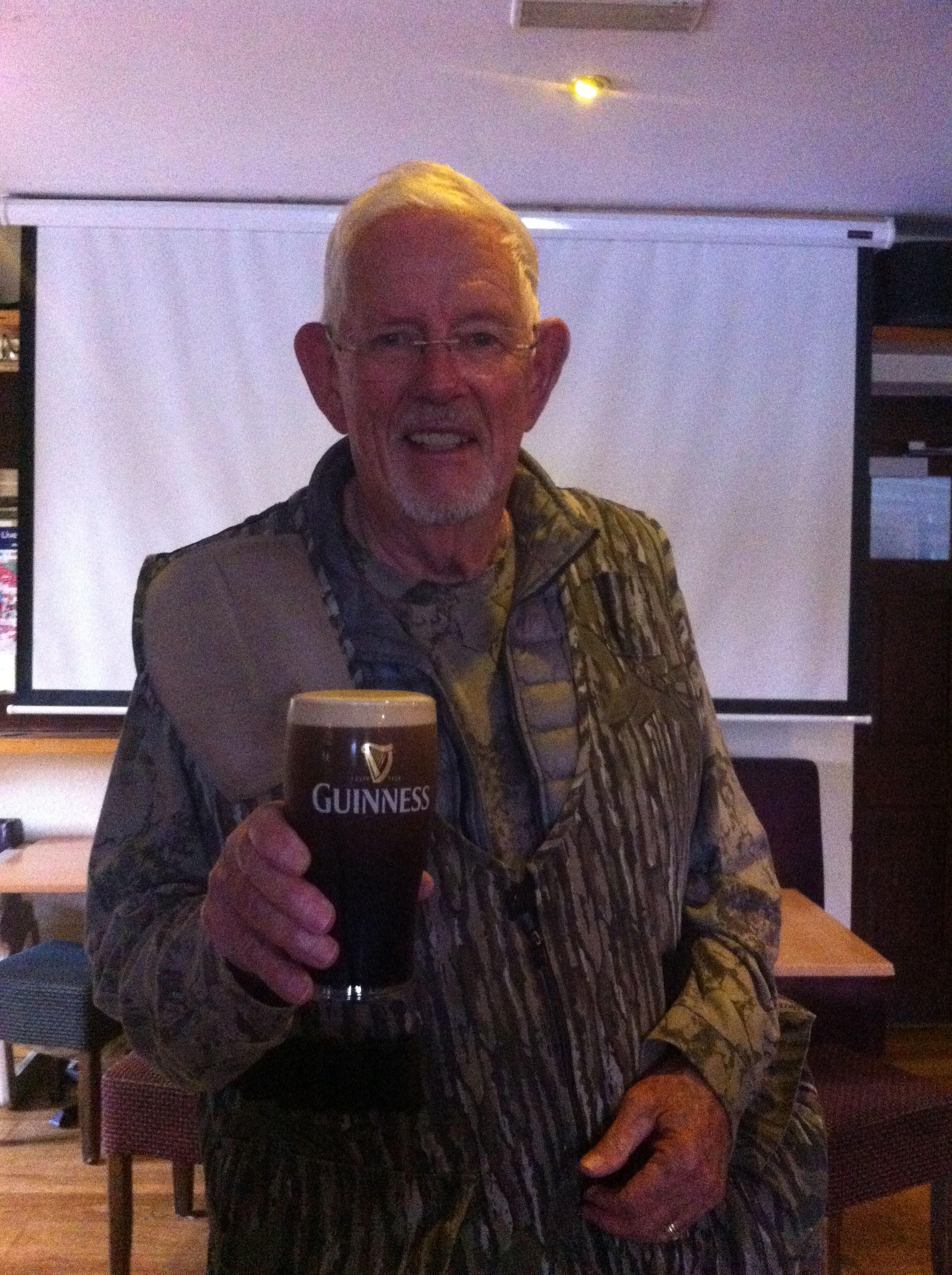 We all agreed that Jim had earned his Pint, his first ever Guinness in Ireland.
