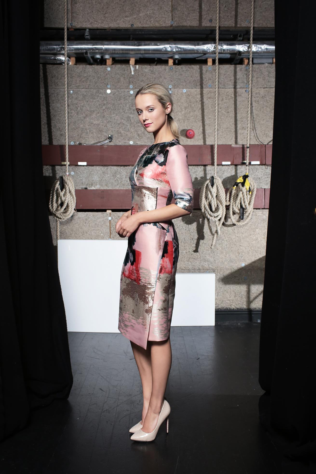 Jazz Dress Abstract Print