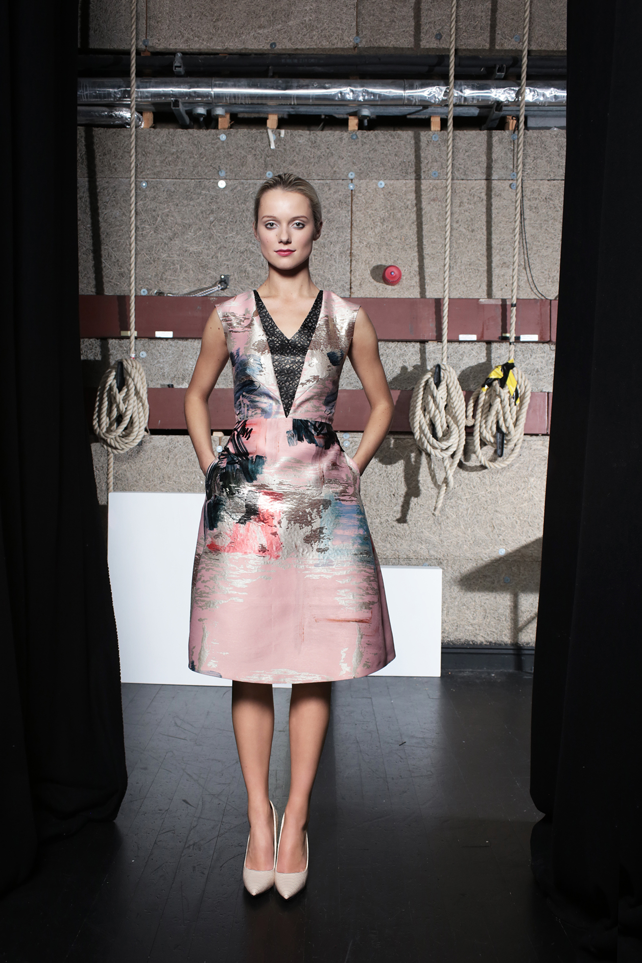 Twiggy Dress Abstract Print