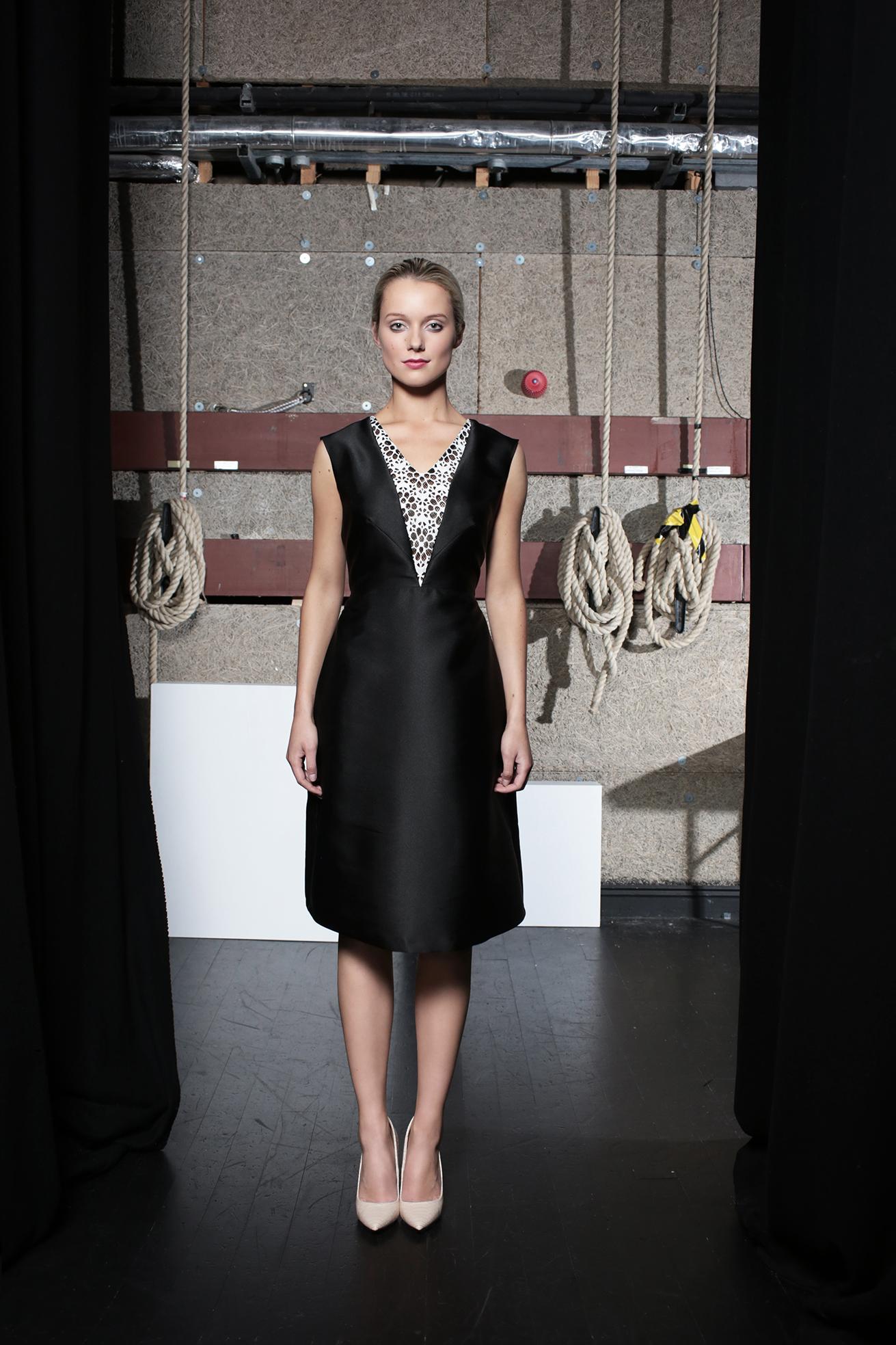 Twiggy Dress Black Taffeta