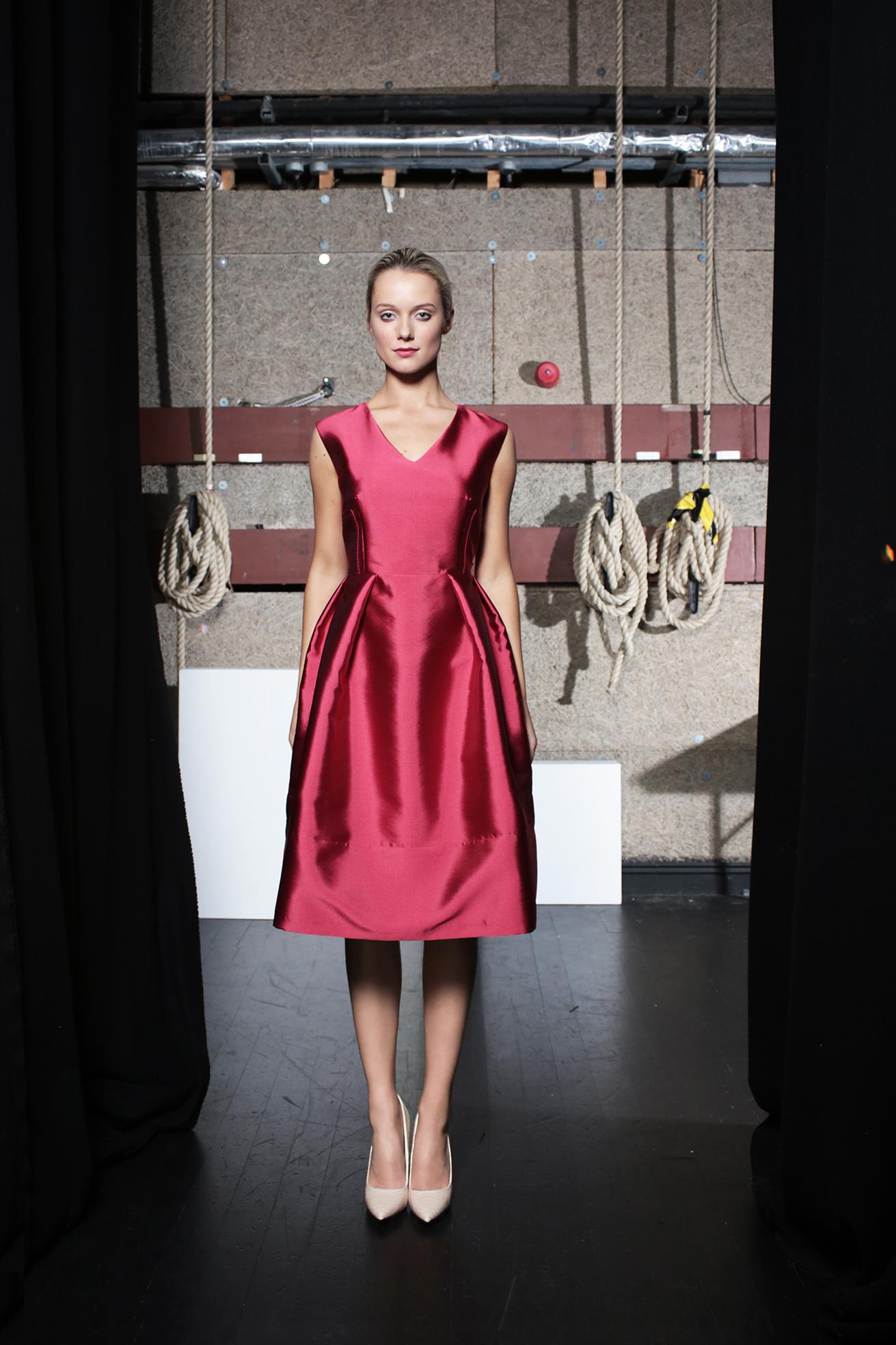 Milly Dress Fuschia Taffeta