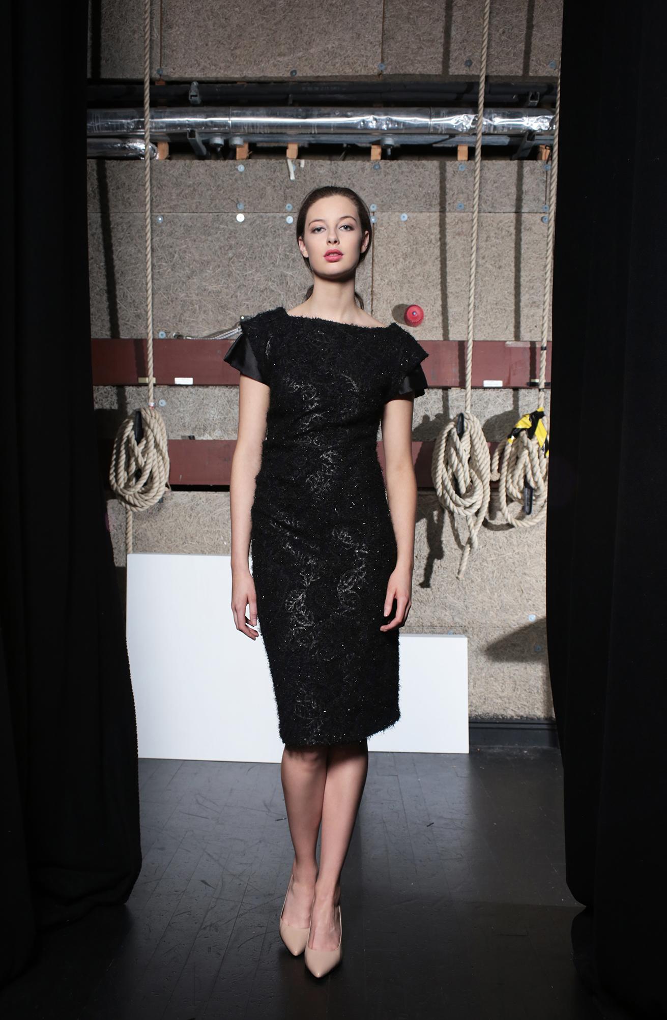 Bacall Dress Black Knit