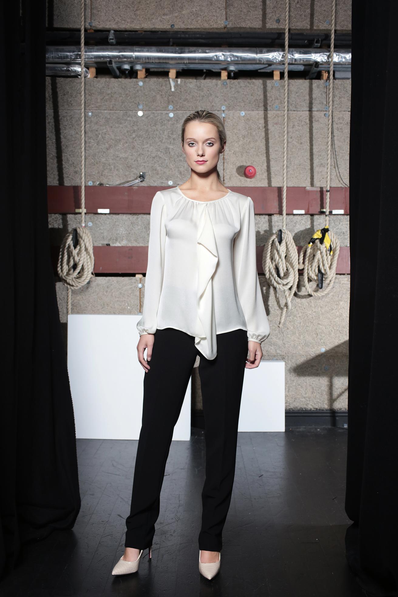 Tori Blouse Cream & Aya Trouser Black