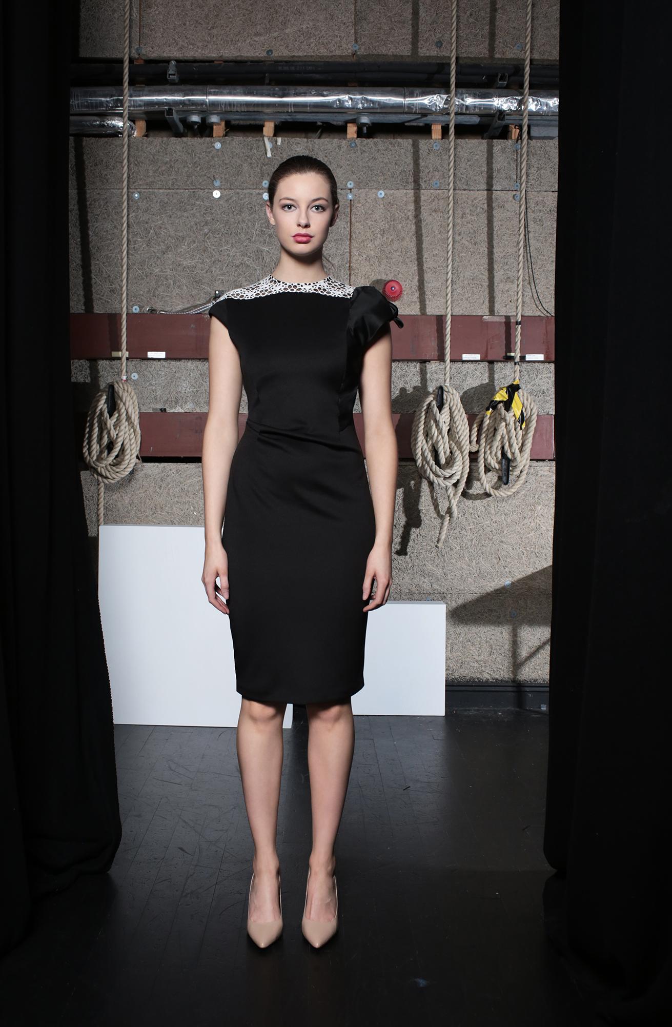Hepburn Dress Black Neoprene