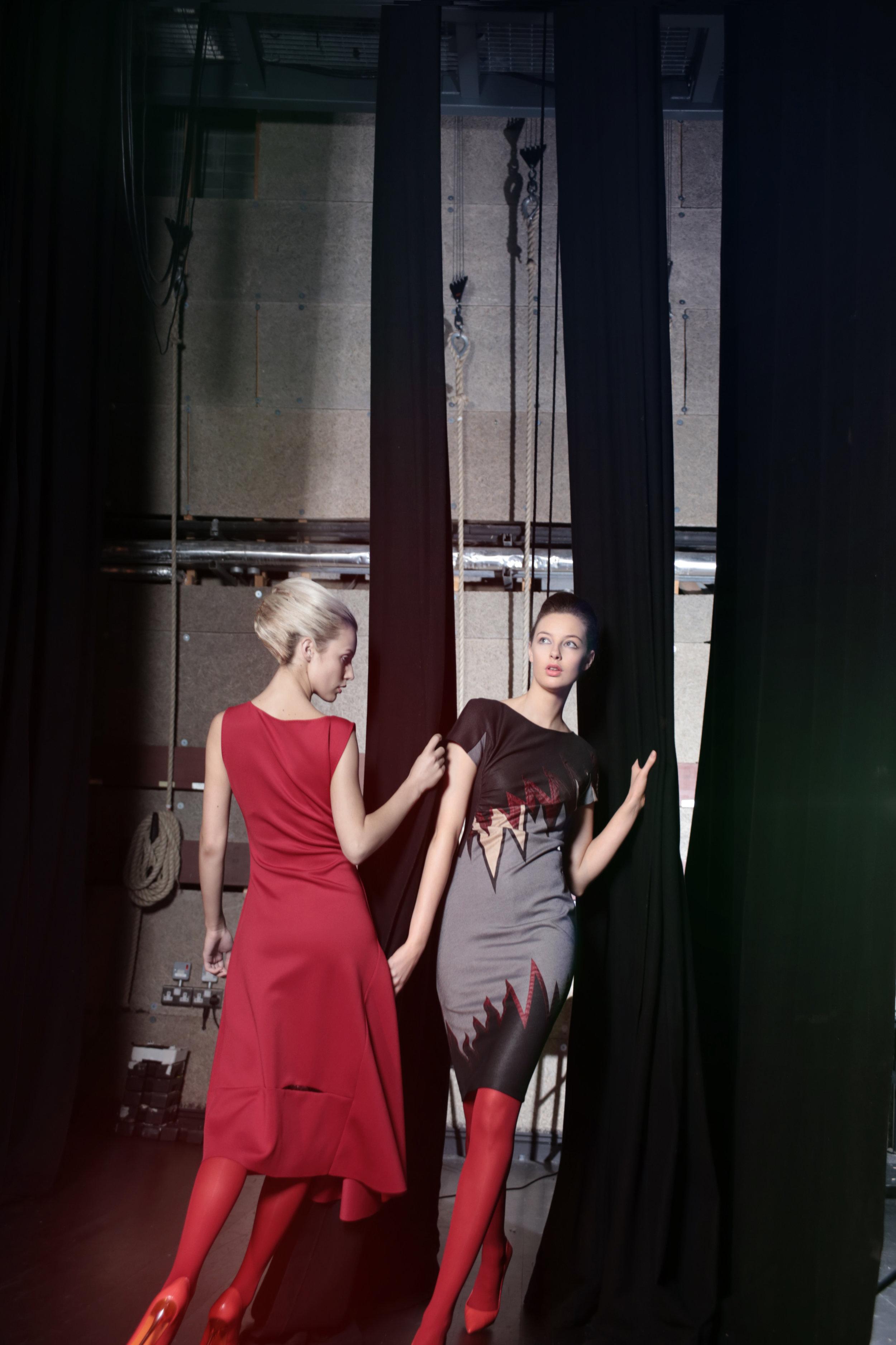 4. Ricki claret dress and Ziggy red zig zag dress.jpg