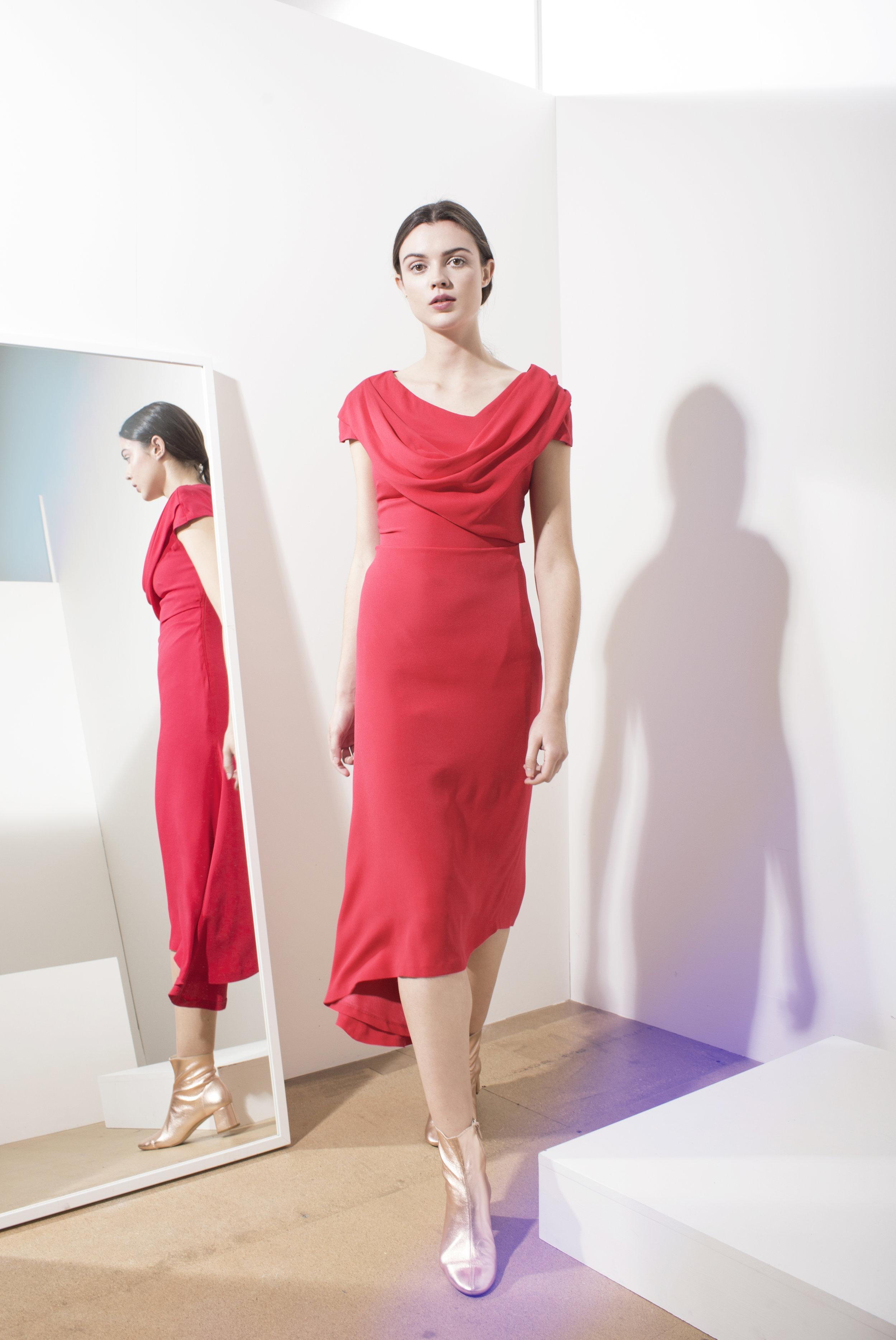 Ophelia drape neck dress
