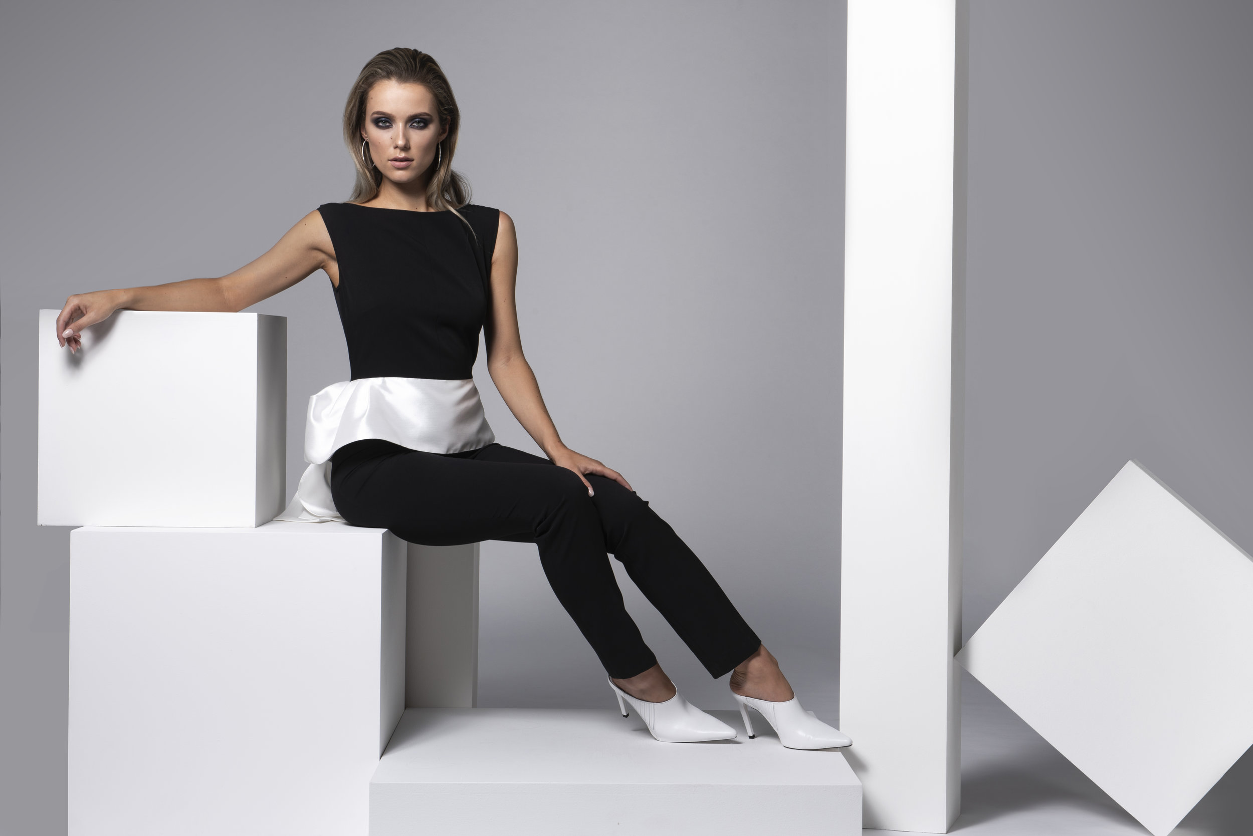 Thompson Jumpsuit in Black & White Satin €197.jpg