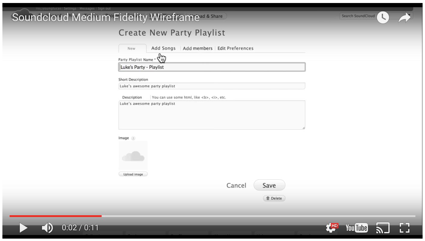 Medium fidelity Desktop Prototype