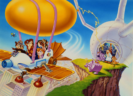 chip n dale rescue rangers hovercraft