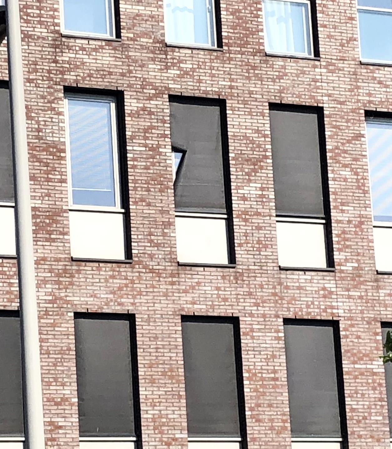 geen uitzicht en het effect is weg van een raam