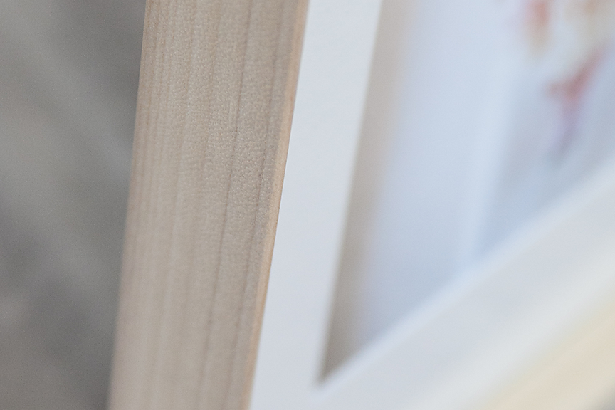 Natural wood frame