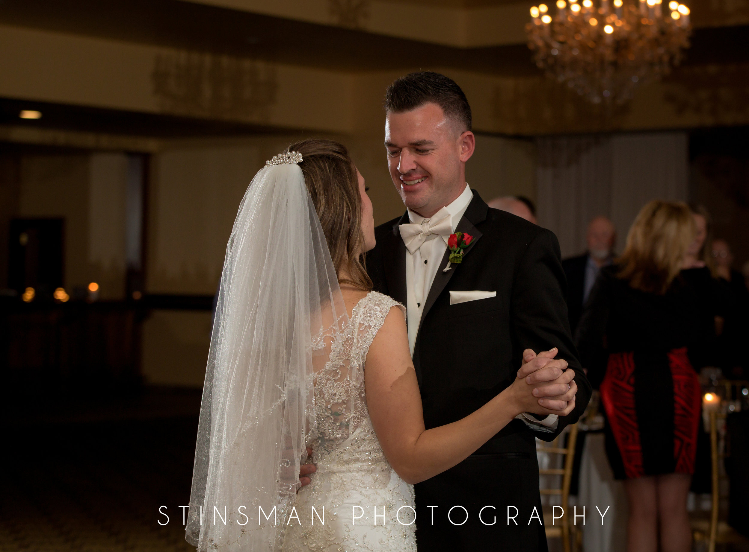 bride and groom first dance at the philadelphia ballroom