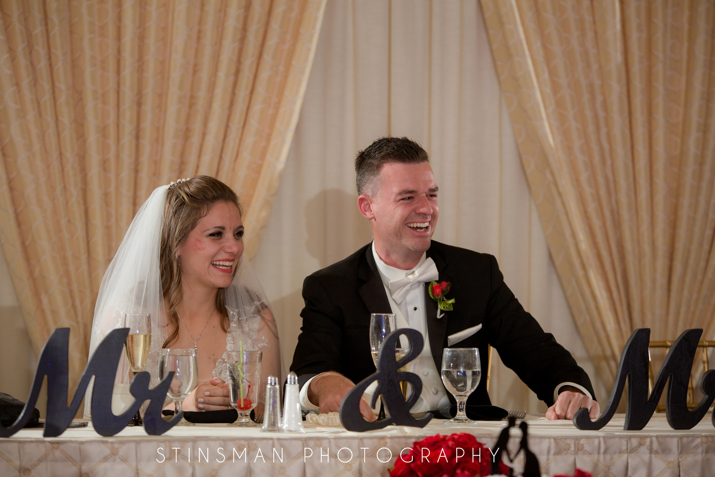 laughing during the speech by the best man