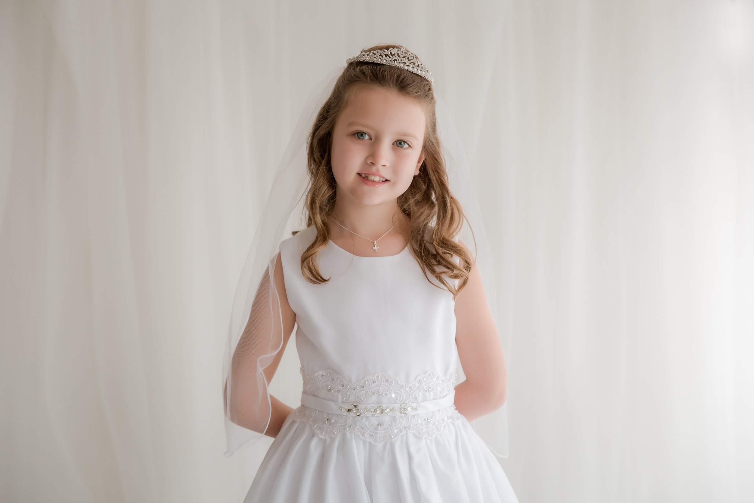 7 year old holy communion portrait