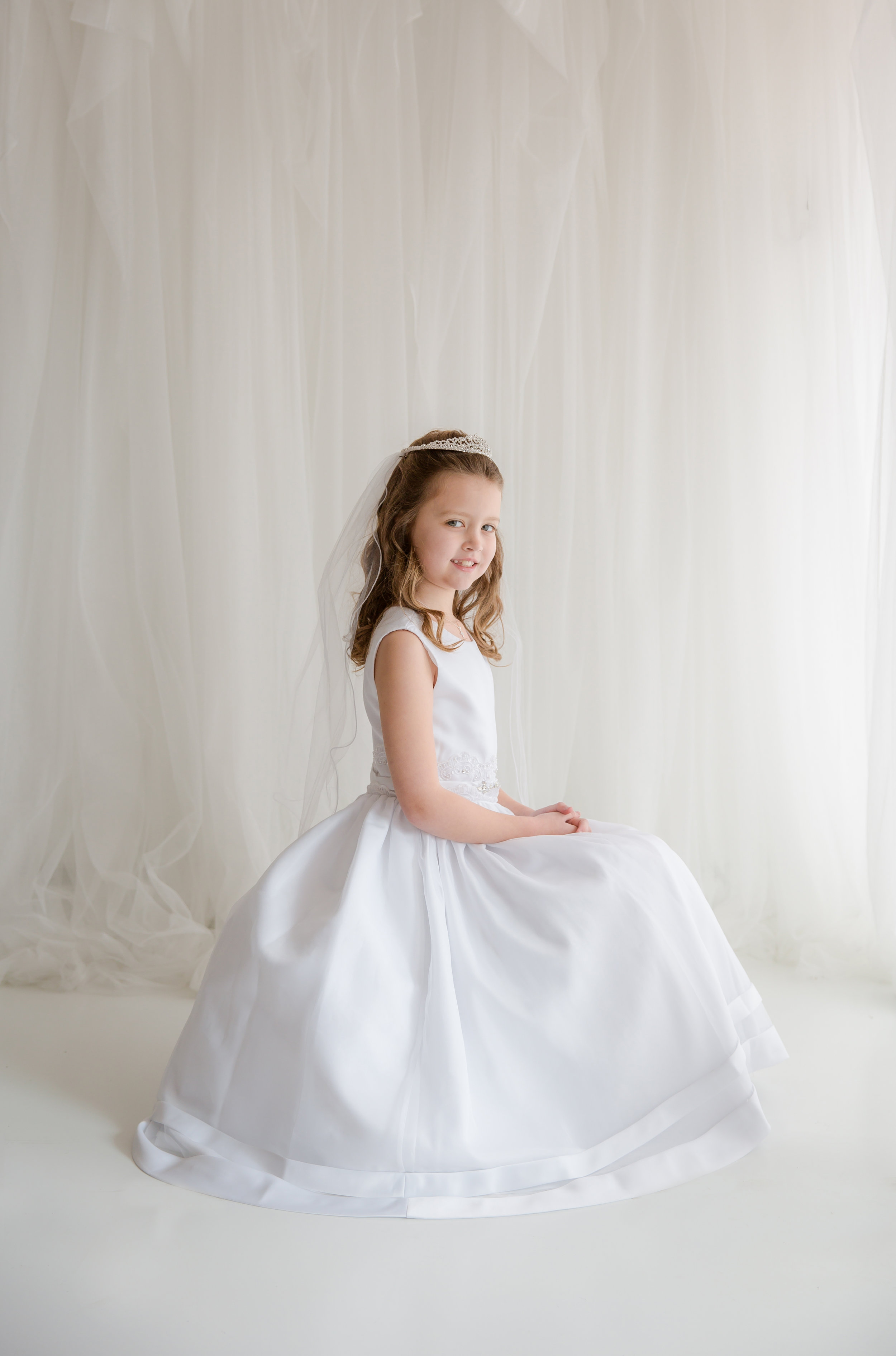 full dress photo for first holy communion