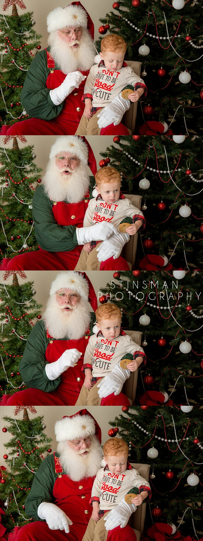 little boy eating a cookie with Santa new jersey photographer