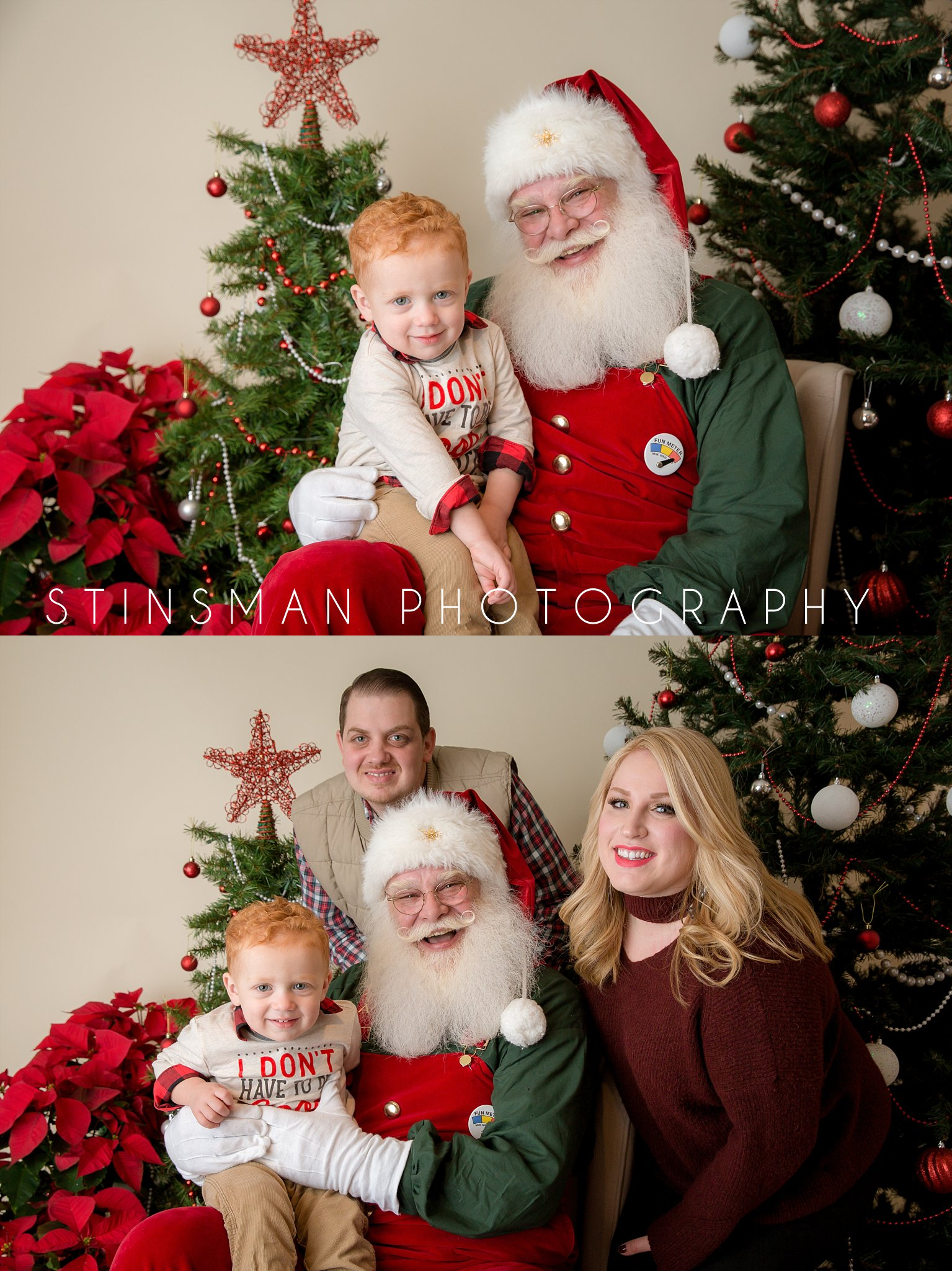 family photo with santa new jersey photographer