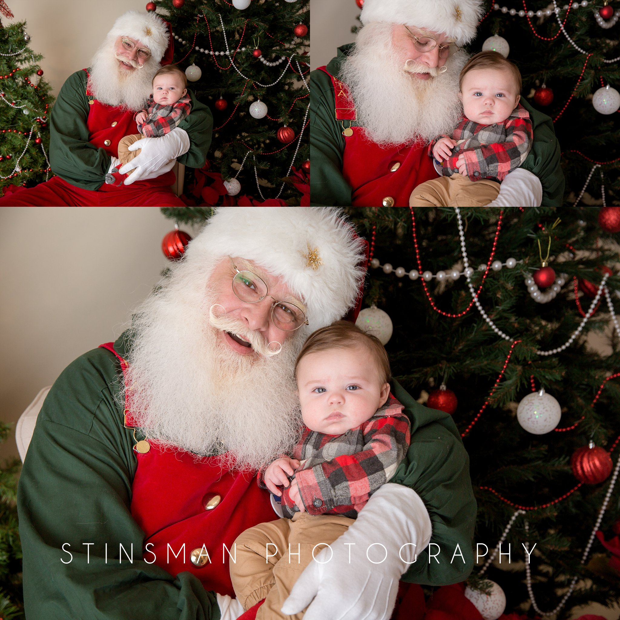 baby boy visiting with santa in new jersey