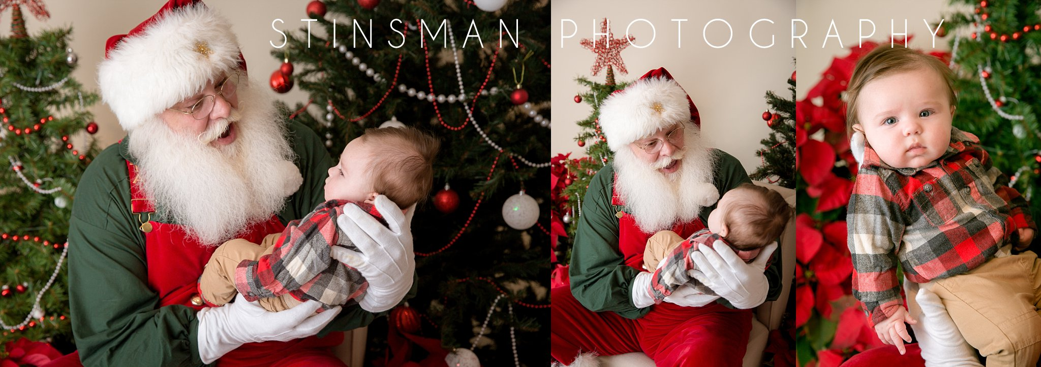baby boy yawning with santa in south jersey