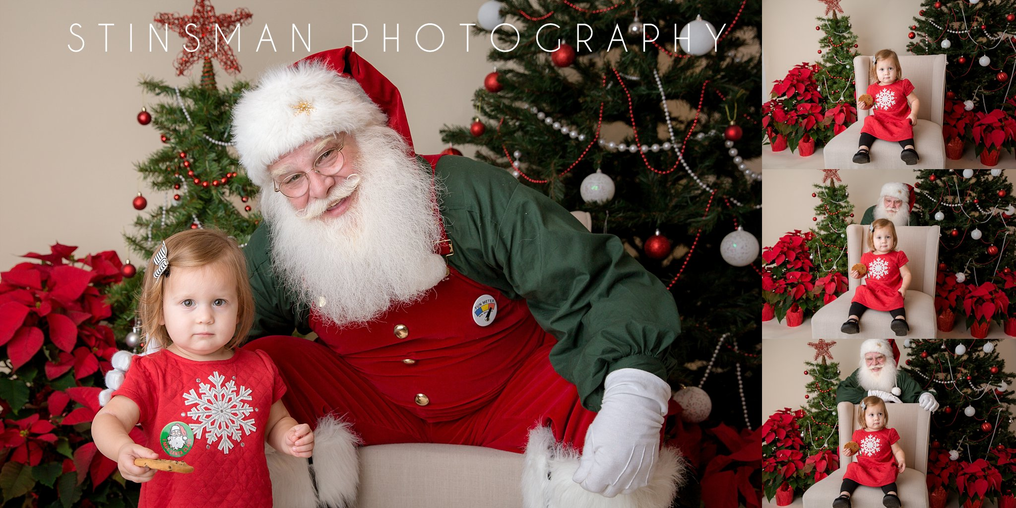 little girl wearing red does not like santa new jersey photographer