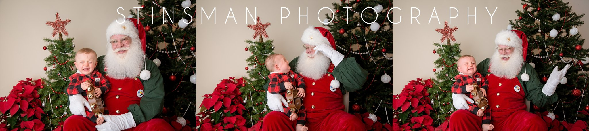 baby boy crying on santa's lap, south jersey photographer