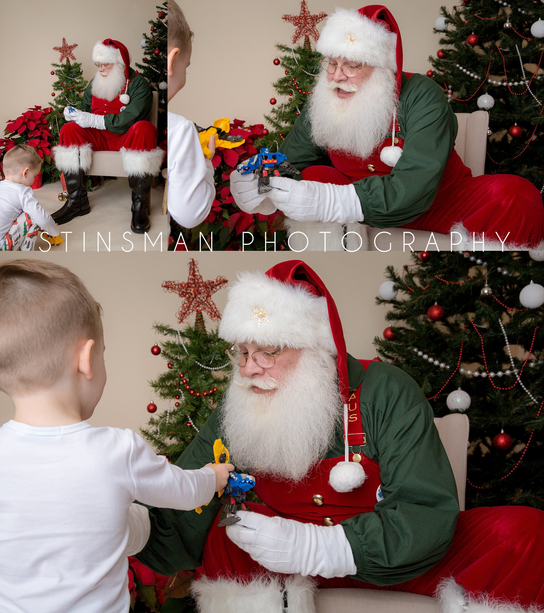 santa loves to play with robots with a little boy south jersey photographer