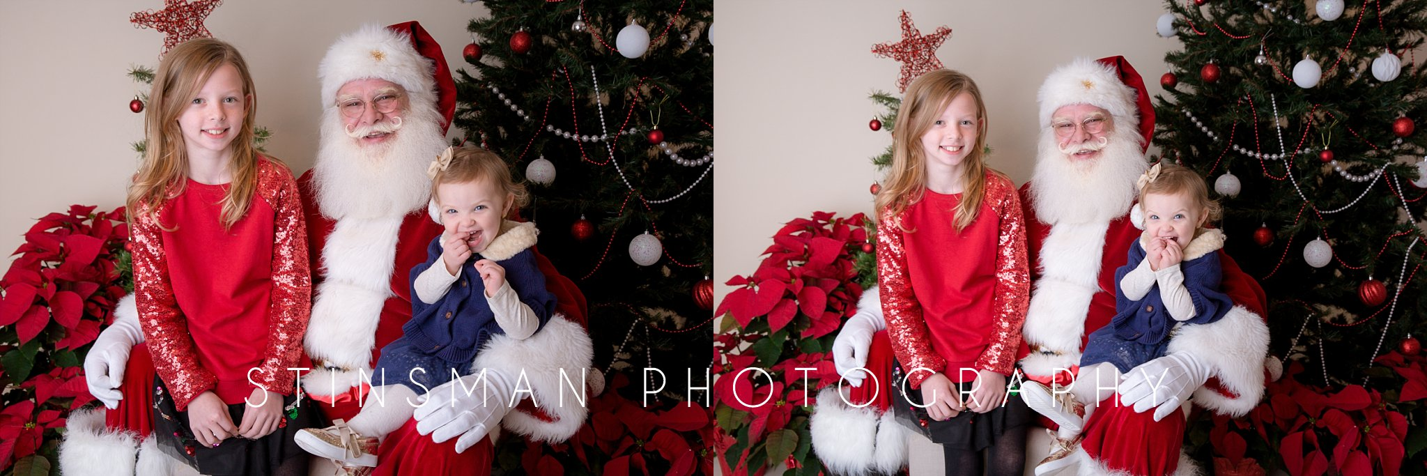 little girl so excited to see santa in south jersey photography studio