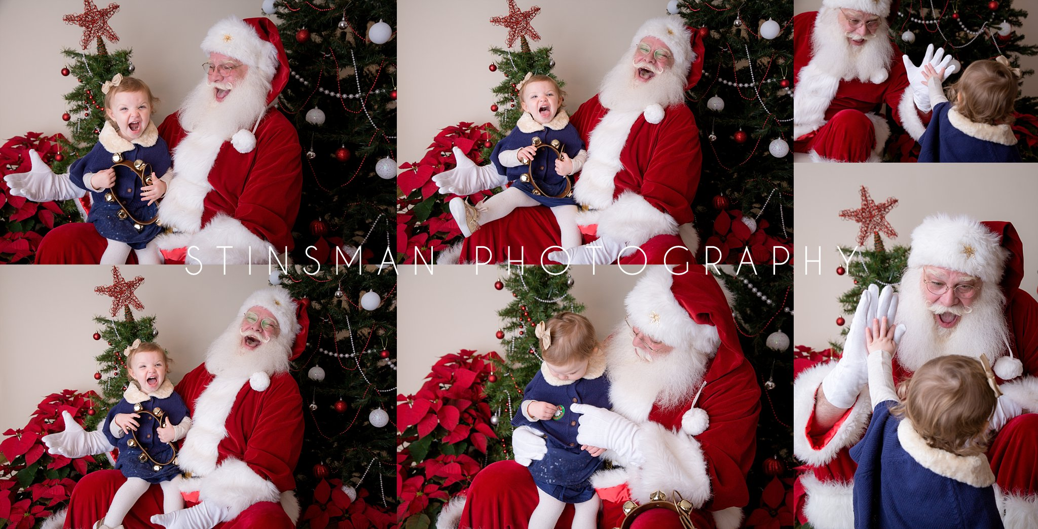 santa is so exciting for his mini sessions