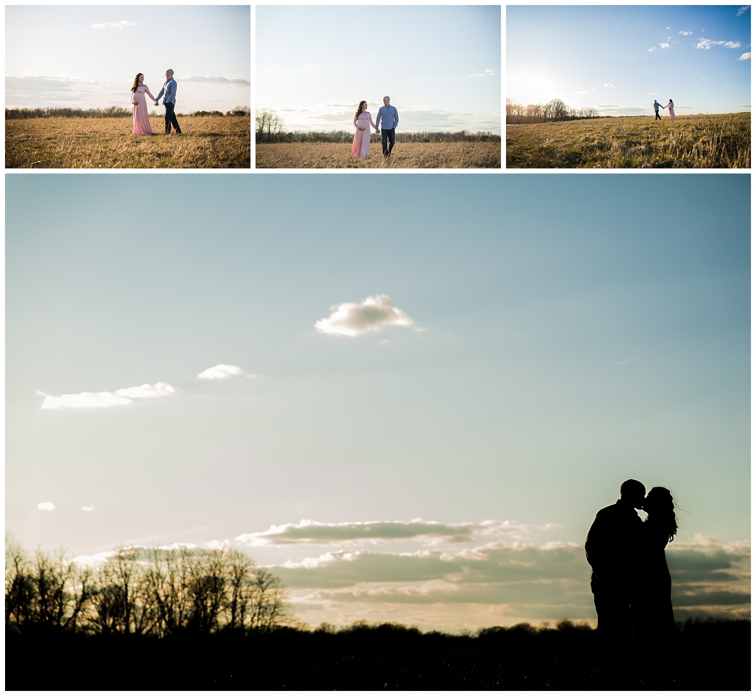 maternity session in an open field in mount holly new jersey and burlington