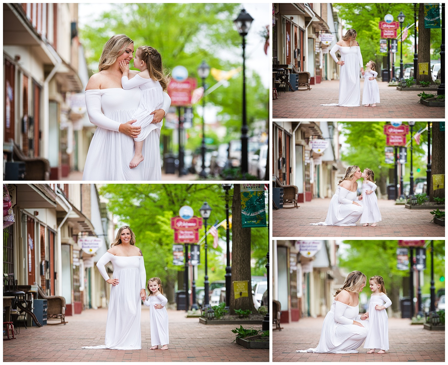 burlington new jersey photo shoot with mom and daughter kissing and hugging