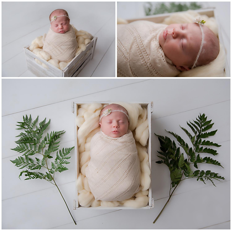 fresh flowers for baby girls newborn photo shoot in moorestown new jersey
