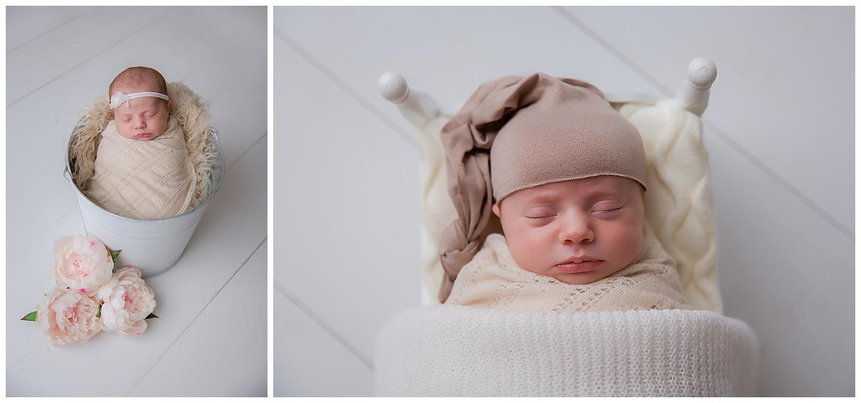 sleeping baby in bed in  moorestown new jersey photo shoot