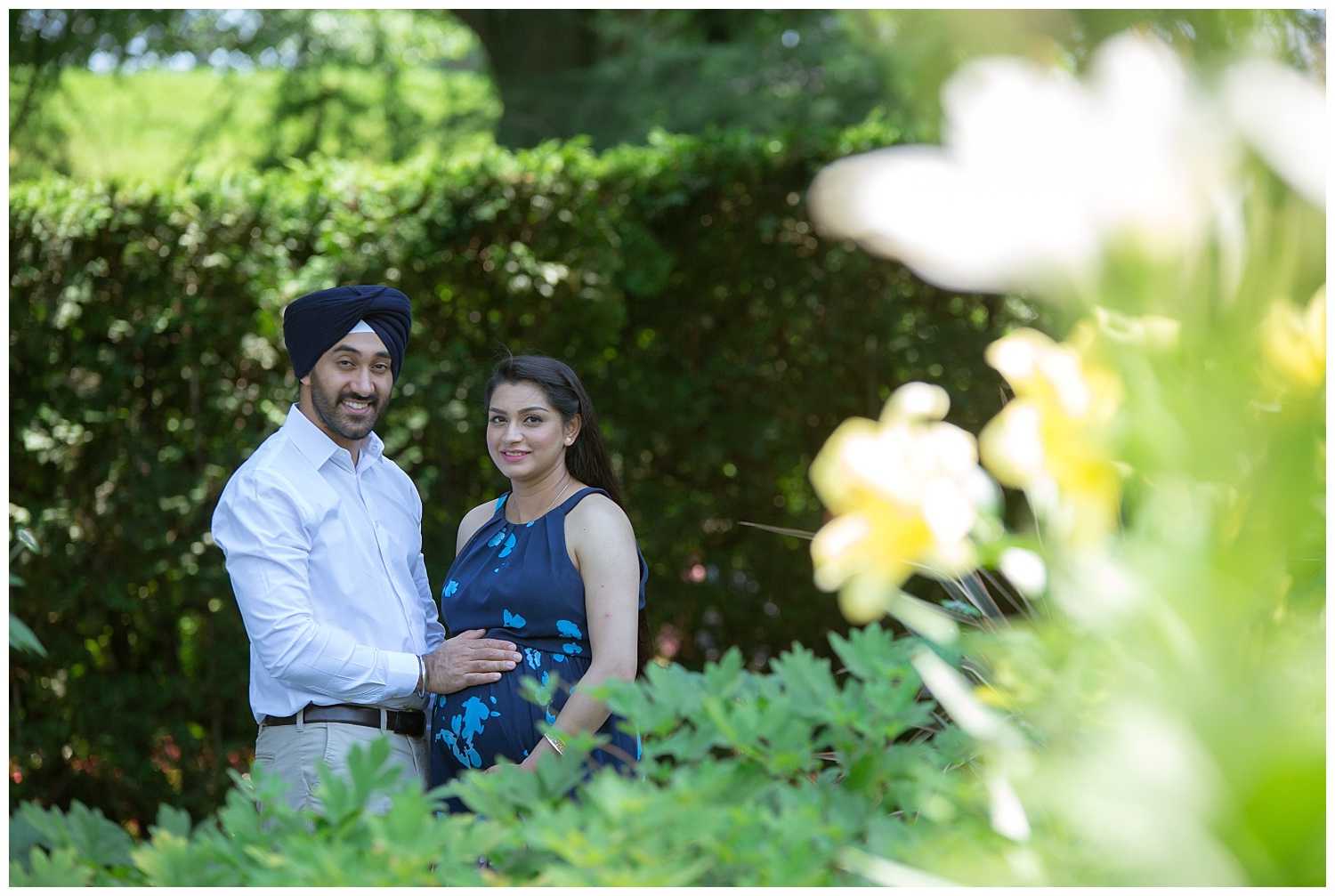 beautiful portait of an indian couple at longwood gardens pa