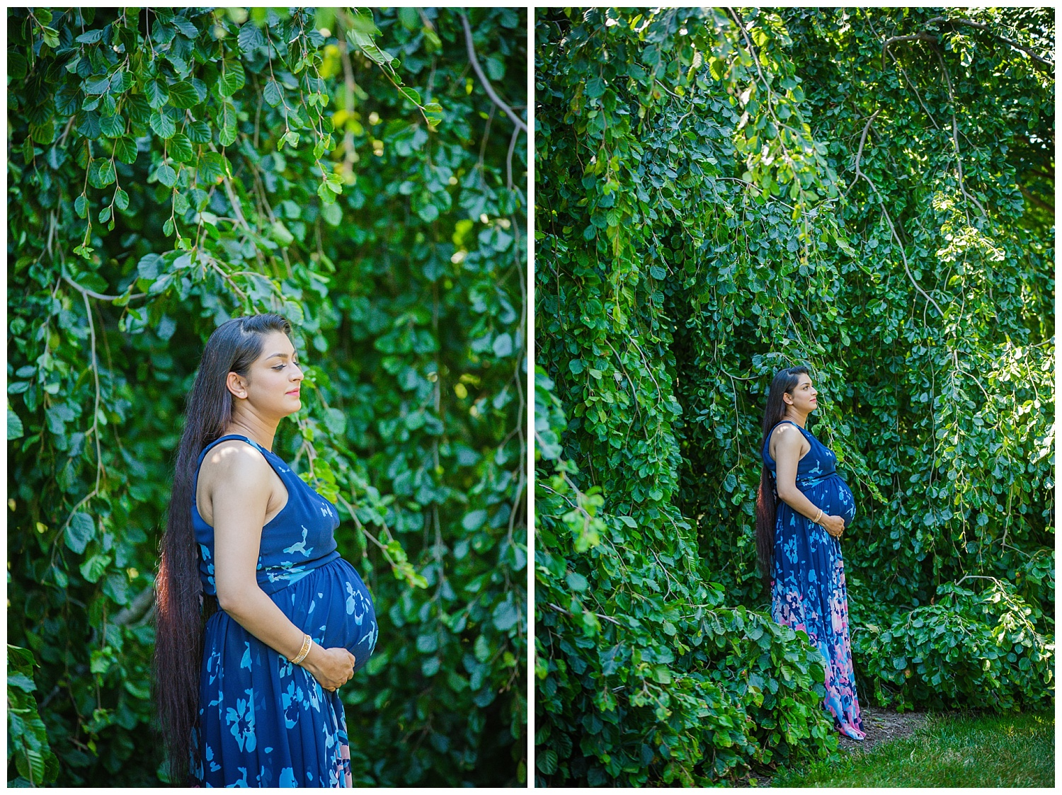 simple portrait of pregnant mom at longwood gardens pa