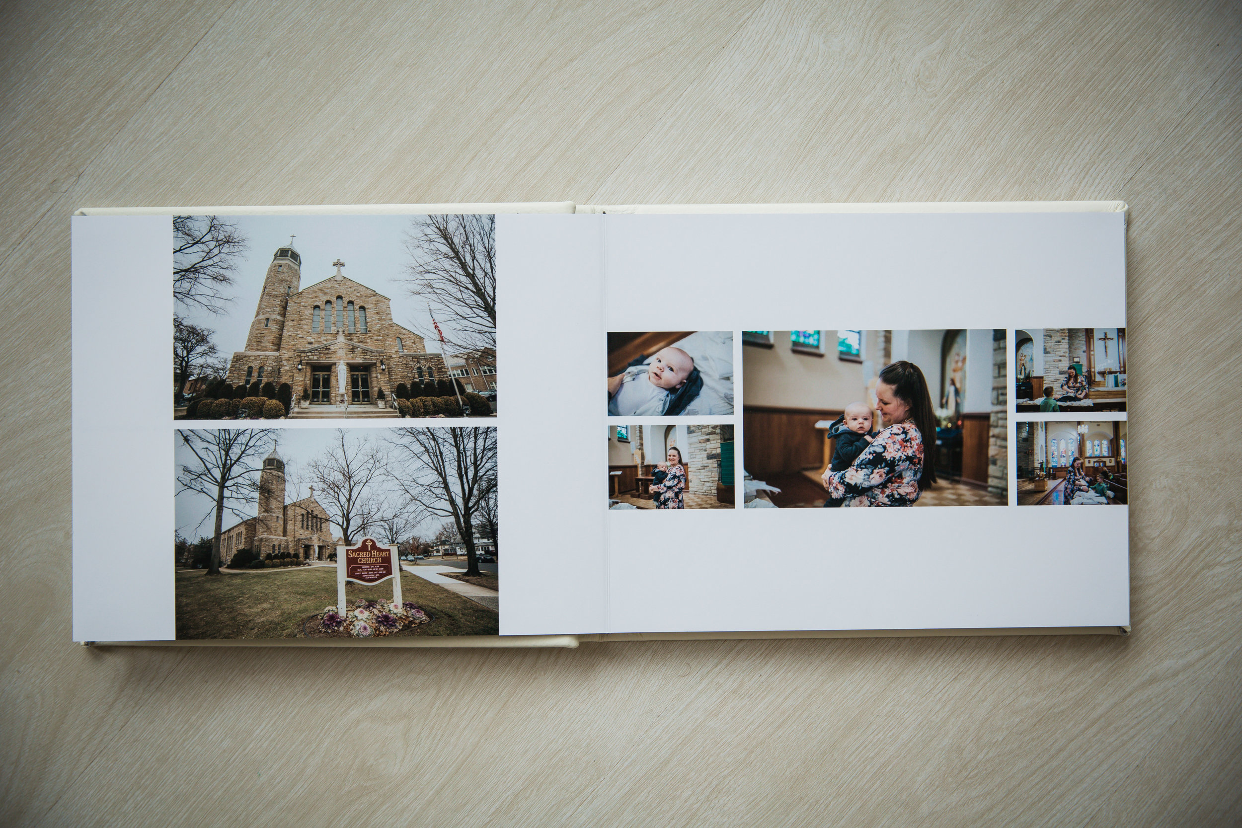 beautiful photo album spread for nj photographer moorestown new jersey