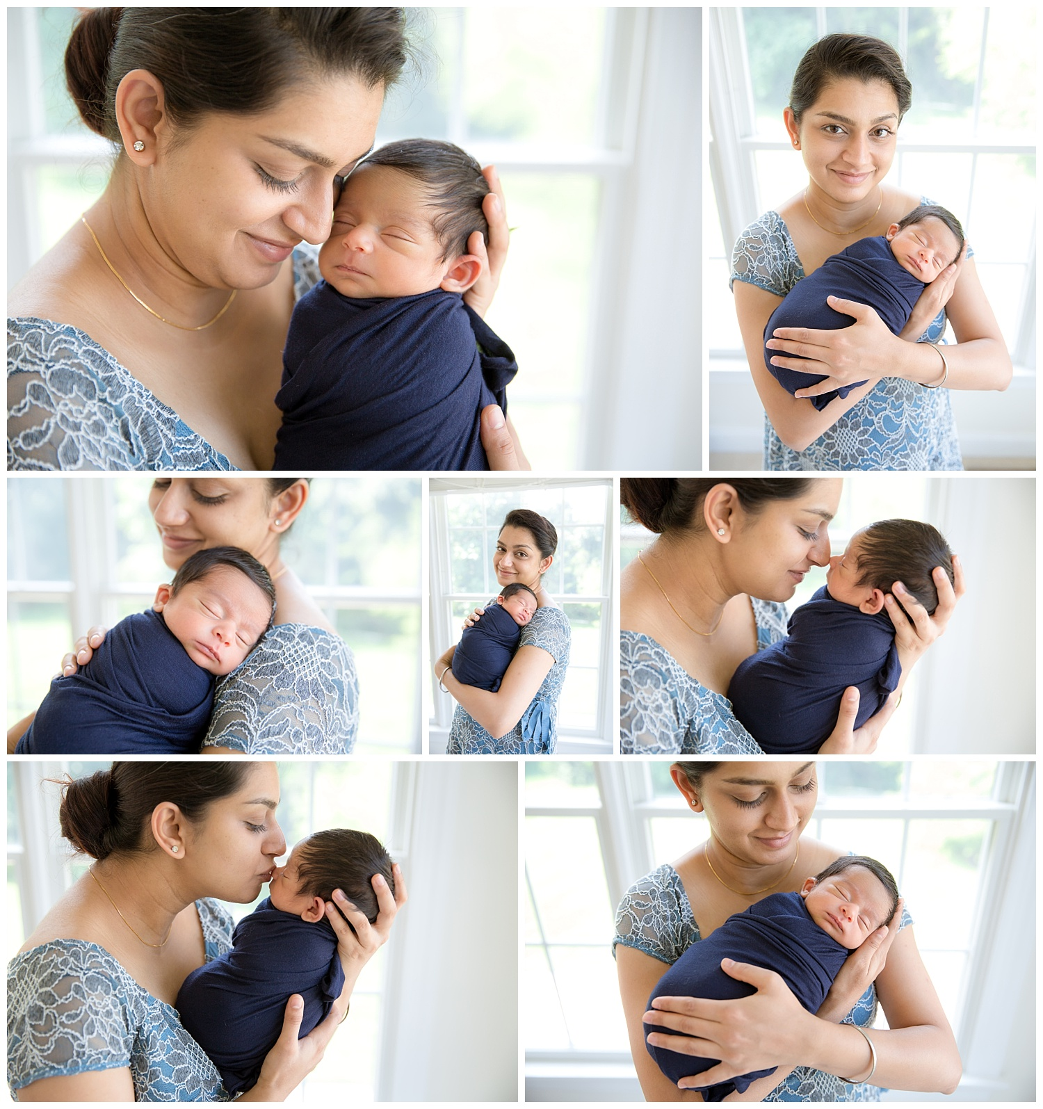 mom holding her newborn baby boy for photo session in her voorhees new jersey home