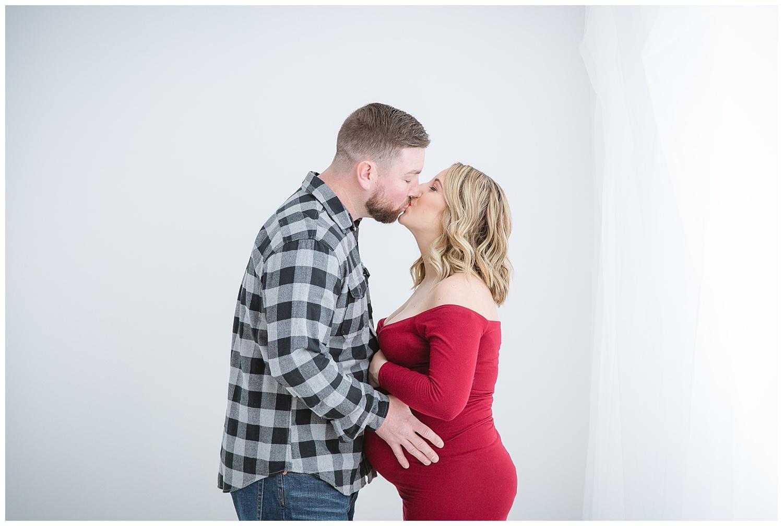 Burlington New Jersey in studio maternity photo shoot