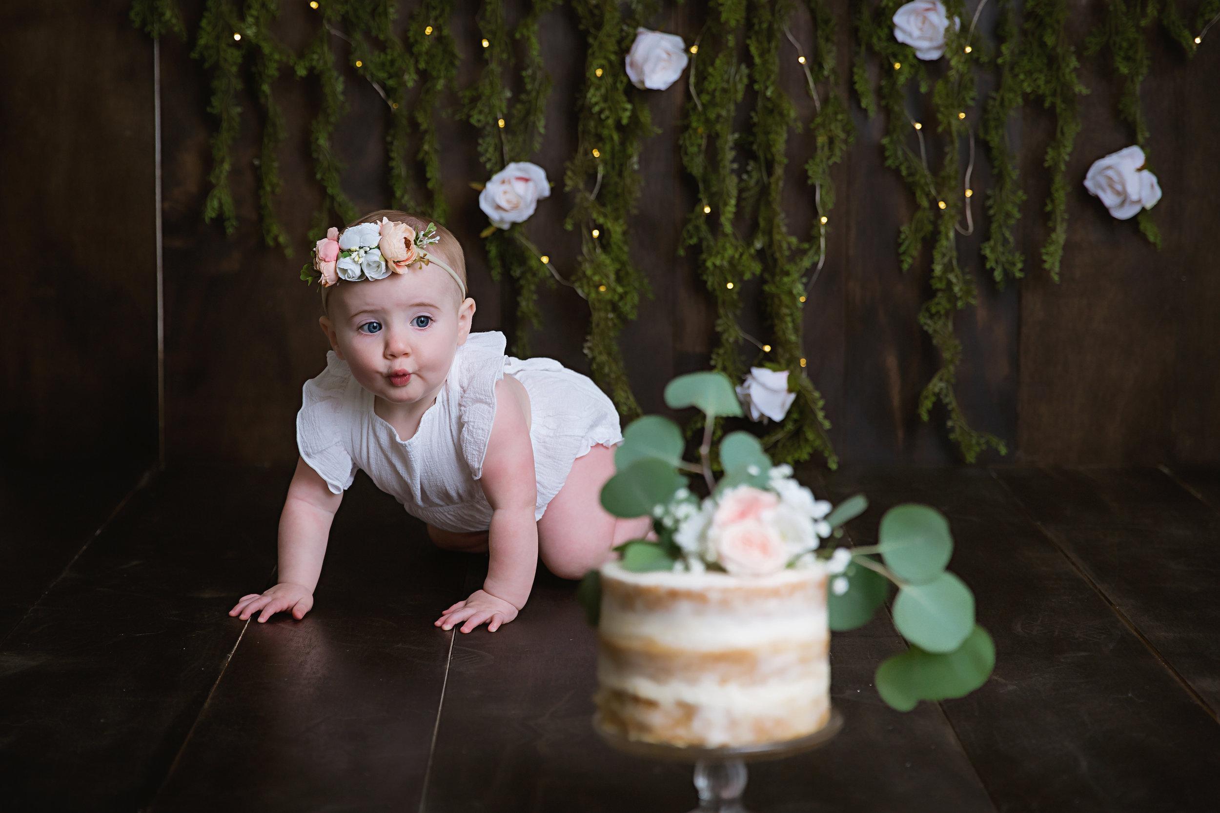 first-birthday-cake-smash-studio-flowers-greenery-south-jersey