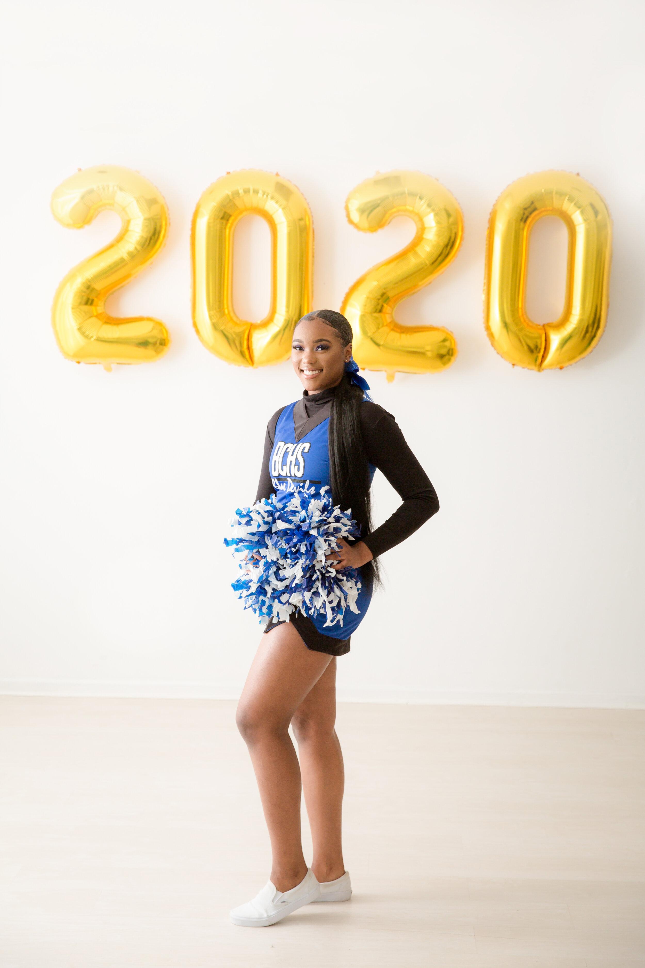 cheerleader senior photo